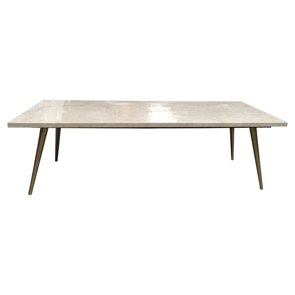 Vintage Mid Century Modern Marble Coffee Table Front View Canape Angle Canape [ 1200 x 1200 Pixel ]