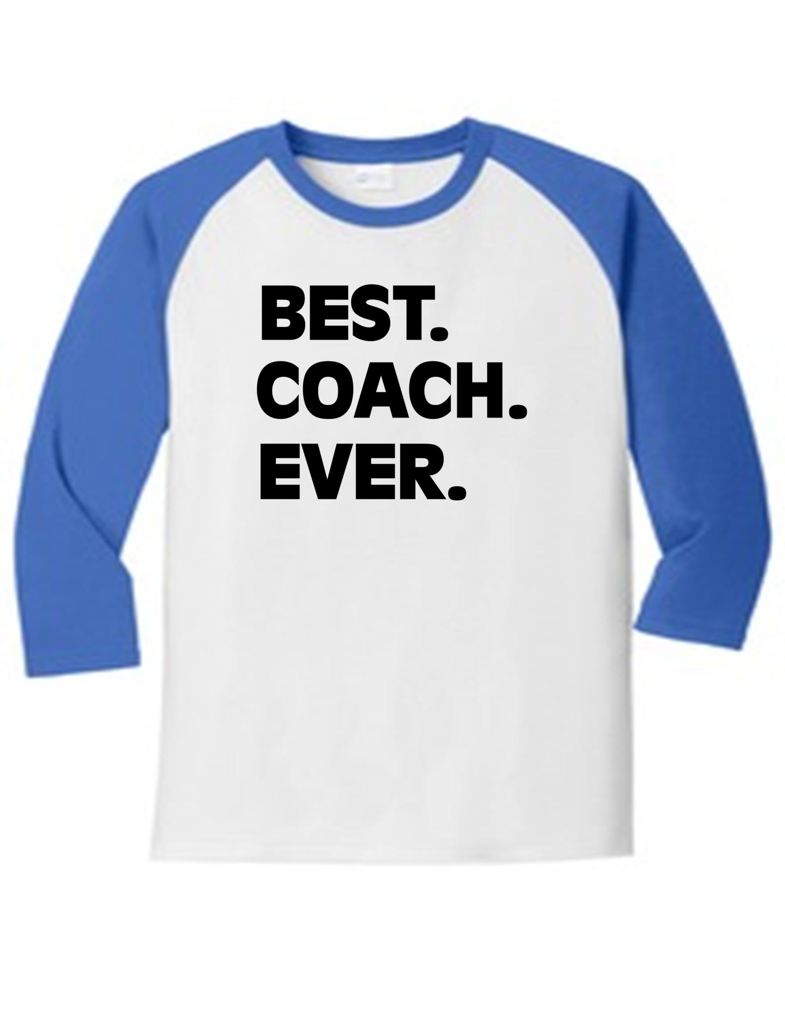 556529eea Best Coach Ever. Football Makes Me Happy 5700 Raglan T Shirt Slogan Humorous  White Red Large, Men's Funny