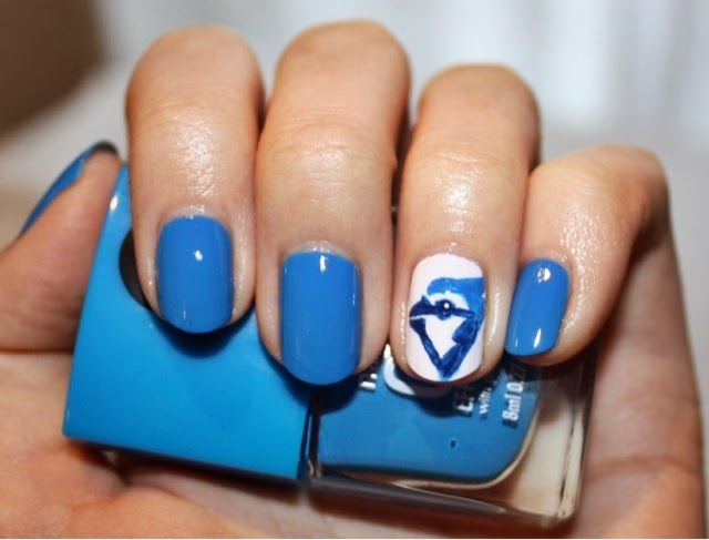 Toronto Blue Jays Nail Art Ft Nails Inc Gel Effect Polish In Mercer Street