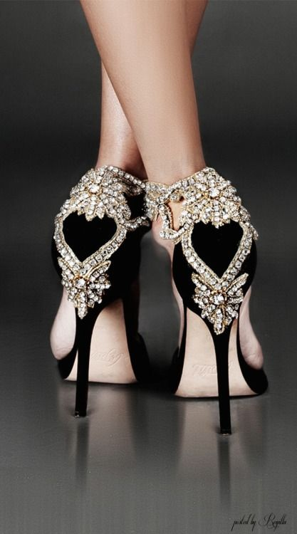 Aminah Abdul-Jillil Shoes. Crystal Back Embellished hand crafted ...