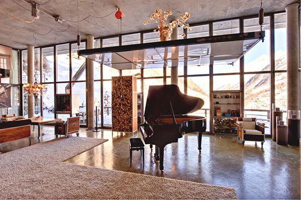 Living Room Swiss Chalet Luxury Manhattan Loft Style In The Heart Of Switzerland