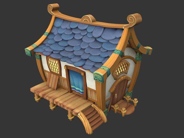 Cartoon World - House 001 3D Model .max .c4d .obj .3ds .fbx .lwo .stl @3DExport.com by xiaoq2