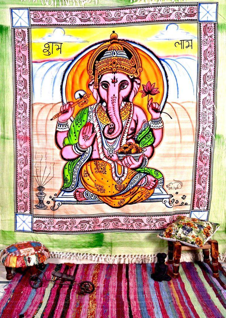 Lord Ganesh Tapestry Spiritual Wall Decor Hindu Wall Tapestry Hippie Tapestry Indian Tapestry Tapestry