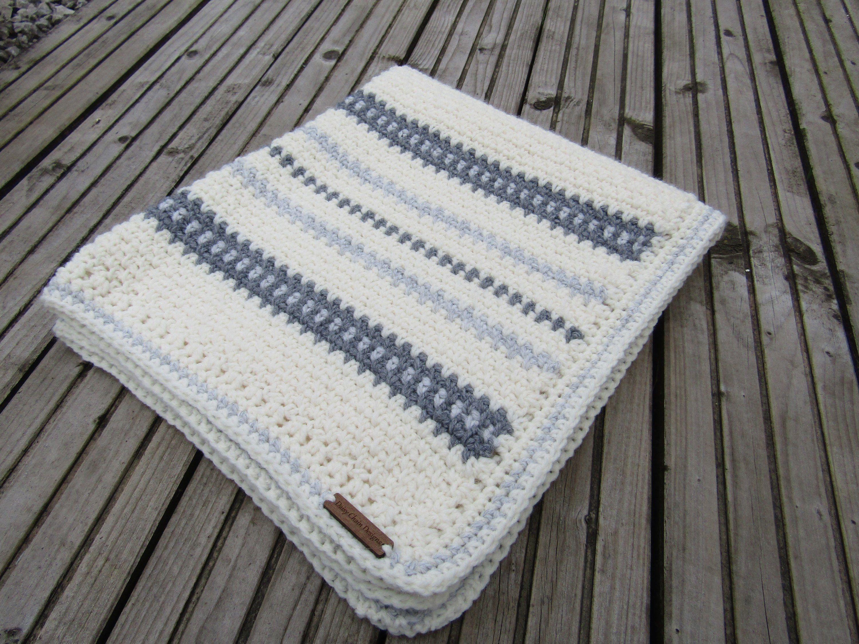 Crochet Baby blanket, crochet blanket, baby blanket, textured ...