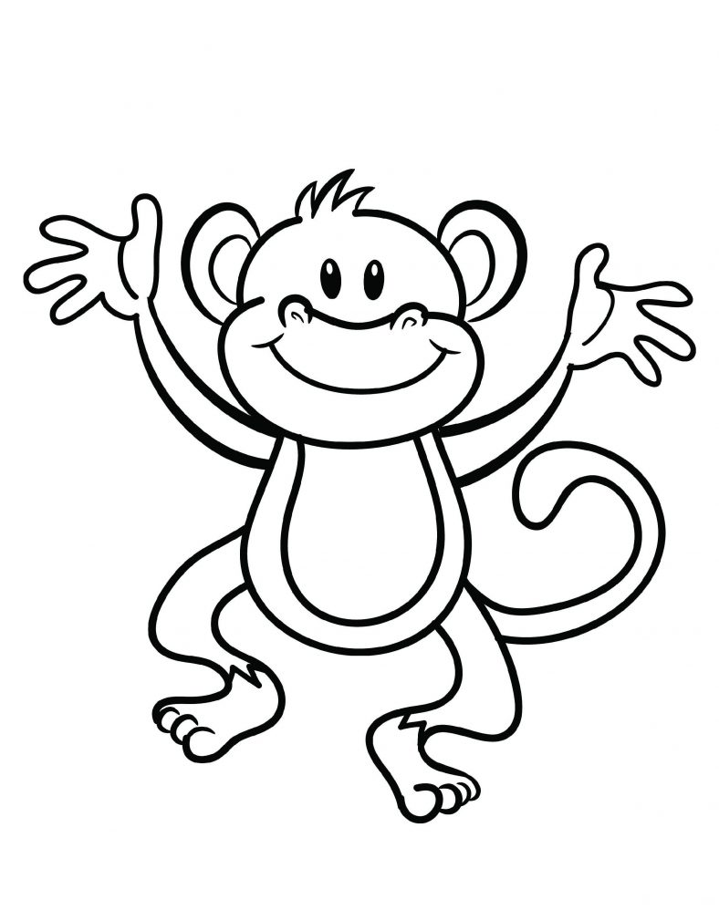Little Monkey Coloring Pages 101 Coloring Monkey Coloring Pages Animal Coloring Pages Cartoon Coloring Pages