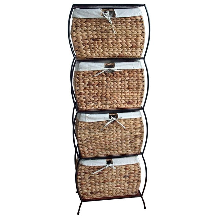 Pangaea Seagr Basket Storage Rattan 4 Drawer File Cabinet Reviews Wayfair