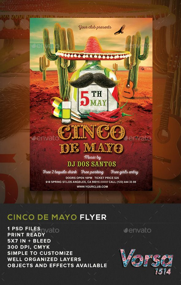 cinco de mayo flyer template clubs parties events my posters