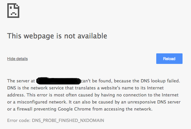 solve or fix DNS Lookup failed error on google chrome on