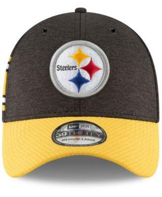 3cbfc692a New Era Pittsburgh Steelers On Field Sideline Home 39THIRTY Cap -  Black/Yellow L/XL