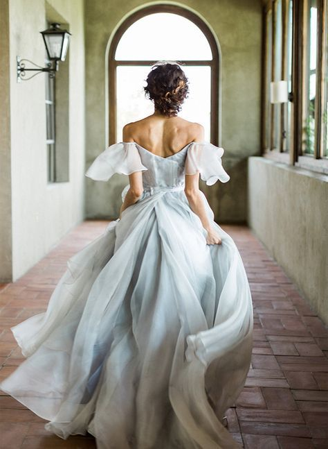 Photo of Inspired By This  11 Dreamy Dusty Blue Wedding Dresses