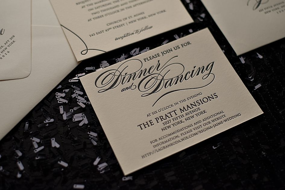 Black Tie Wedding Invitations, High End Wedding Invitations, Classic Wedding  Invitations, Black And White Invitations