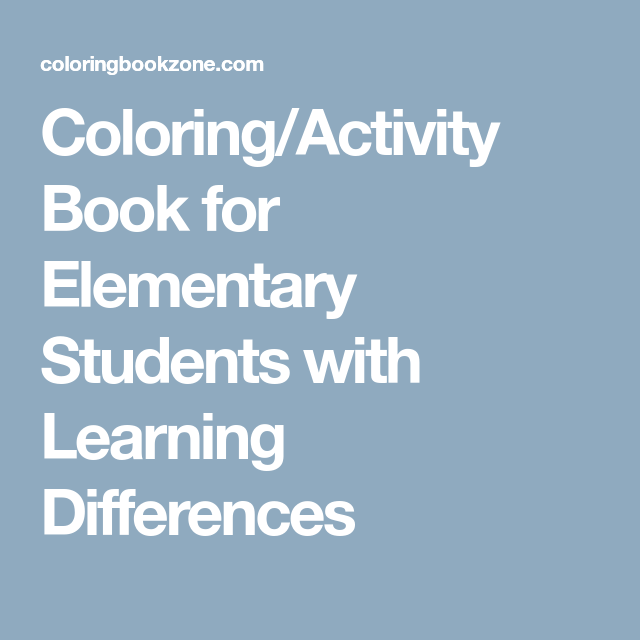 Coloring/Activity Book for Elementary Students with ...