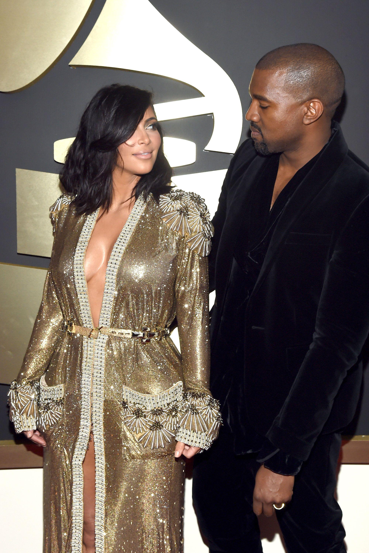 10 Times Kim Kardashian And Kanye West Were Adorably In Love At The Grammys Kim Kardashian And Kanye Kim And Kanye Kim Kardashian