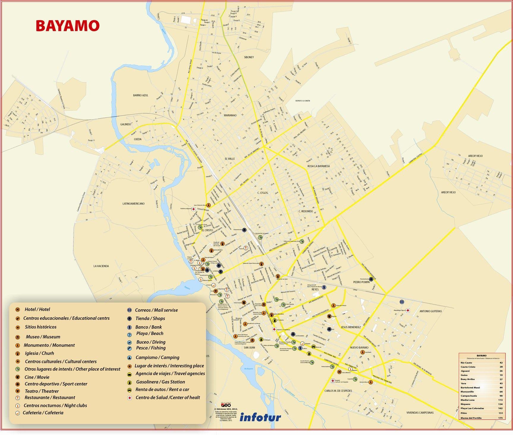 Plano de Bayamo provincia de Granma 2011 CUBA Pinterest