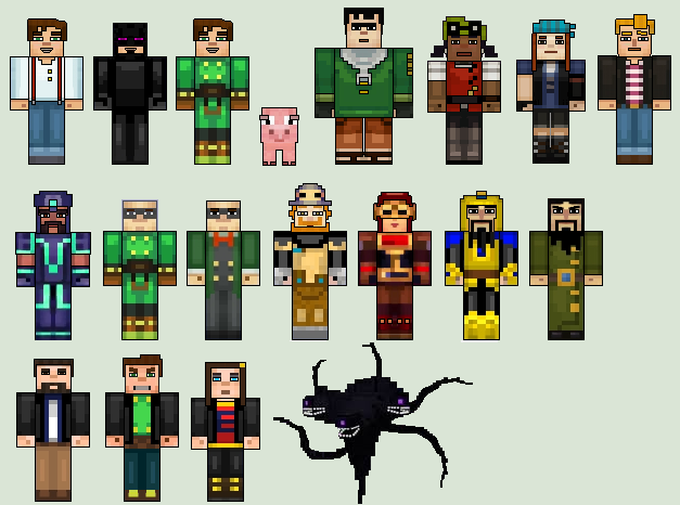 Image Result For Minecraft Story Mode Characters Little Brothers
