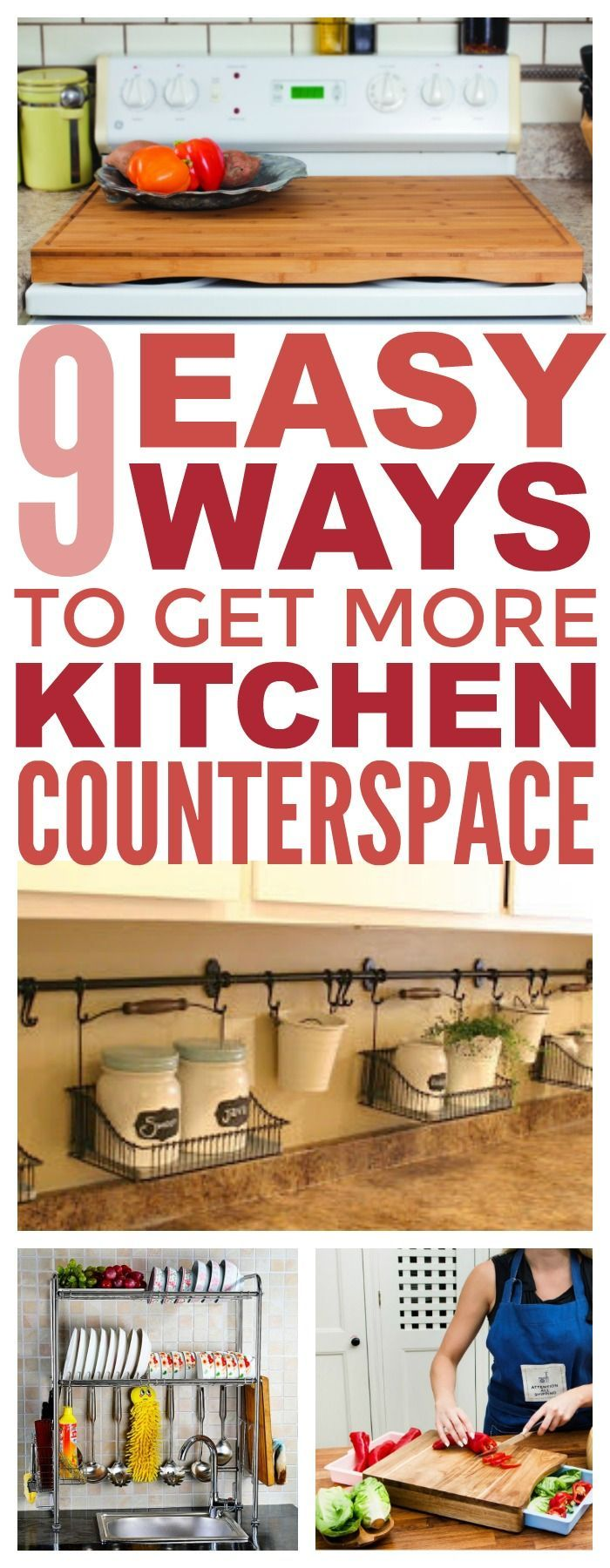 9 Simple Ways To Create More Counter Space In Your Tiny ...
