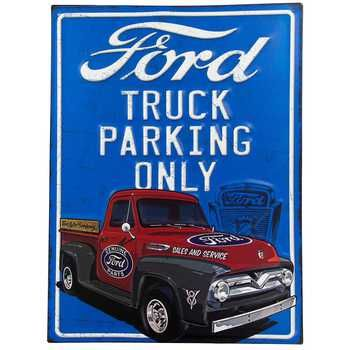 Ford Truck Parking Only Metal Sign Ford Truck Old Ford Trucks Trucks Only