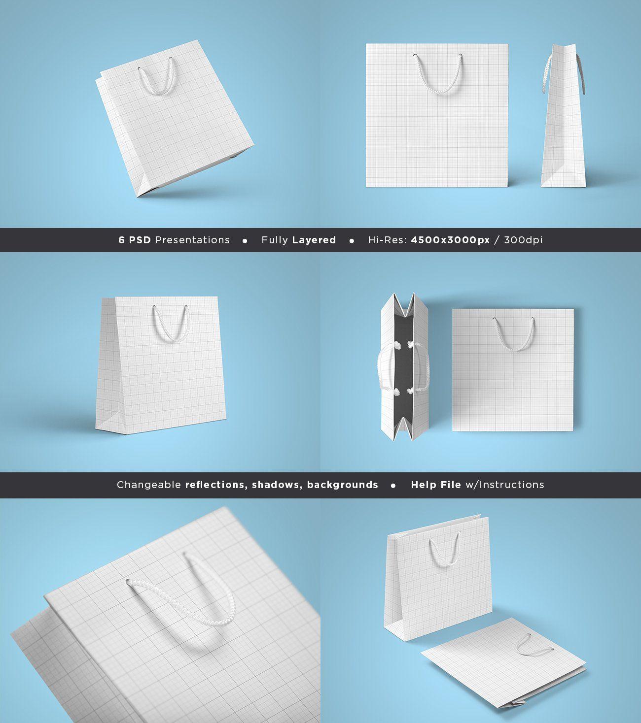 Download Square Paper Bag Mock Up Vol 2 Bag Mockup Square Paper Free Business Card Templates