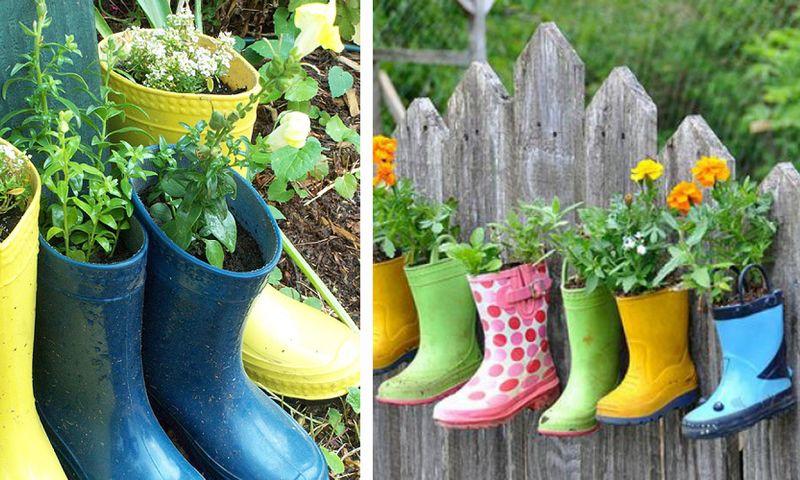 6 Botas De Tierra La Corta Vida Que Las Botas De Agua Suelen Tener Cuando Sus Propietarios Son Niños Y Niñas A Quienes L Diy Projects To Try Floral Boots Boots