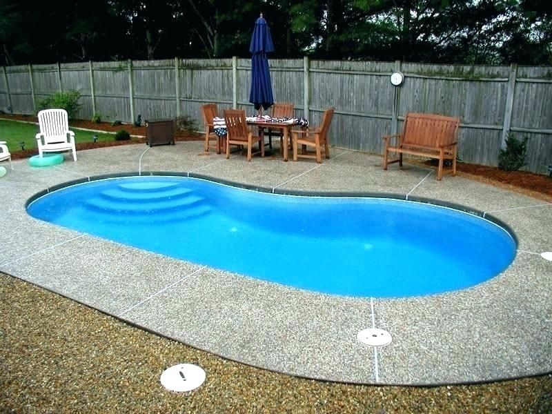 Inground Pool Ideas For Small Yards Patio Backyard Small Pool
