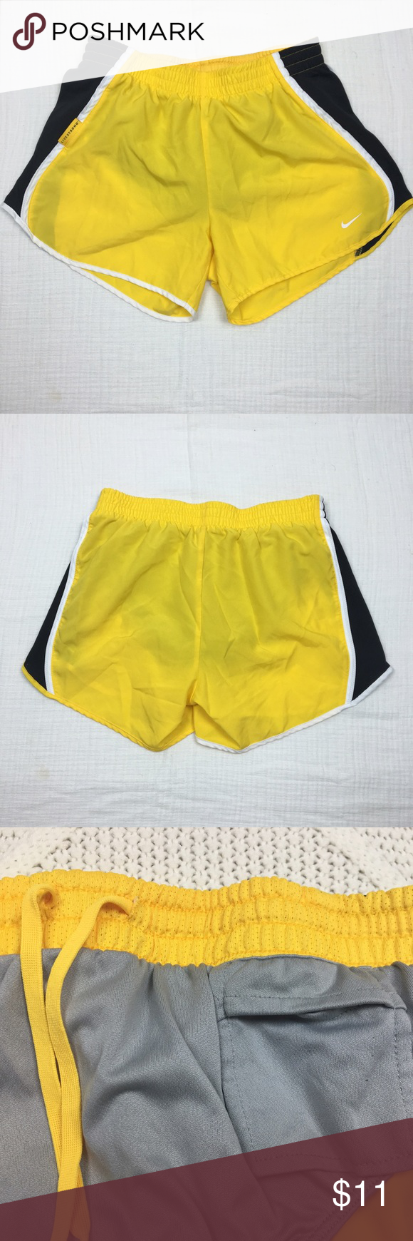 Nike Women's Pacer Shorts Livestrong Dri Fit Brand: Nike. Material: 100% Polyester. Color: Yellow. Size: Small. Two pockets. Preowned. Made in Malaysia. Nike Shorts