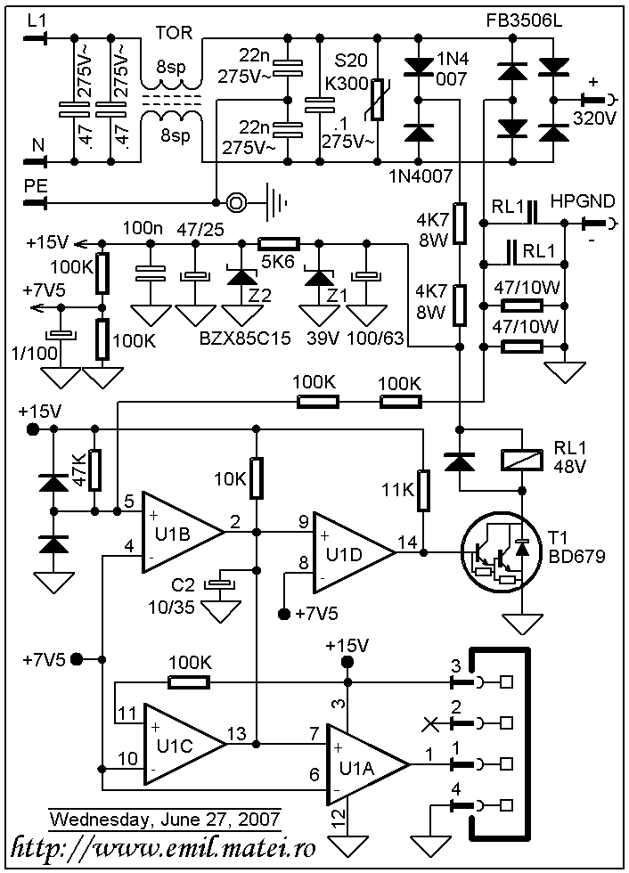 Halogen Lamp Dimmer With Soft Start Circuit Schematic