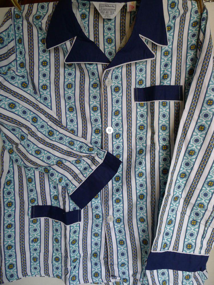 Details about Vtg Sanforized Pilgrim Sears Mens Pajama