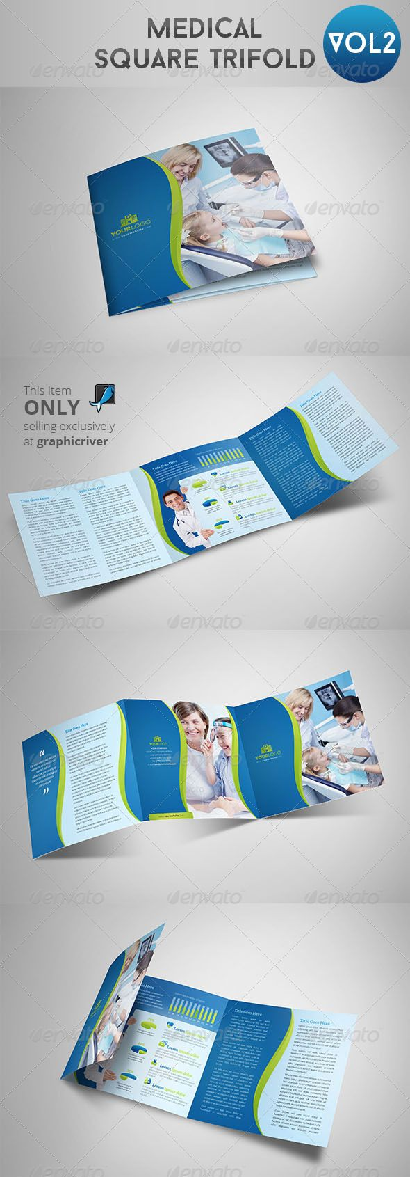 Medical Square Trifold 2 — shop PSD square corporate • Available here → square trifold 2 ref=pxcr