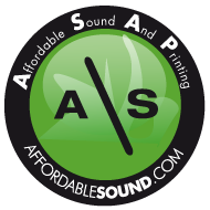 affordable sound (cd/dvd duplication; posters & postcards; apparel & merchandise)