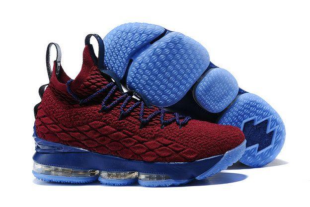 790875450a3 2018 New Nike LeBron XV EP 15 Wine Red Royal Blue James Mens Original Basketball  Shoes