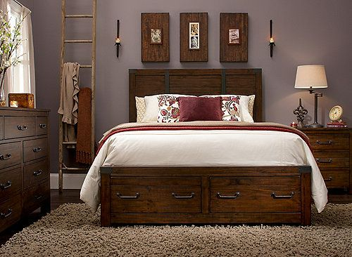 Shelton 4 Pc Queen Bedroom Set W Storage Bedroom Sets Queen King Bedroom Sets King Bedroom
