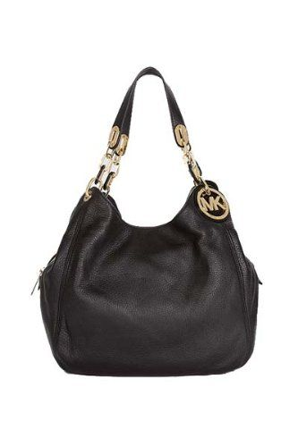 501f86c323ef89 $397.95 Amazon.com: Michael Kors Fulton Large Shoulder Tote BLACK ...
