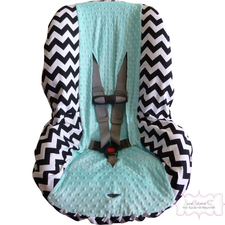 Black+Chevron+with+Tiffany+Blue+Toddler+Car+Seat+by+sewcuteinaz,+$40.00
