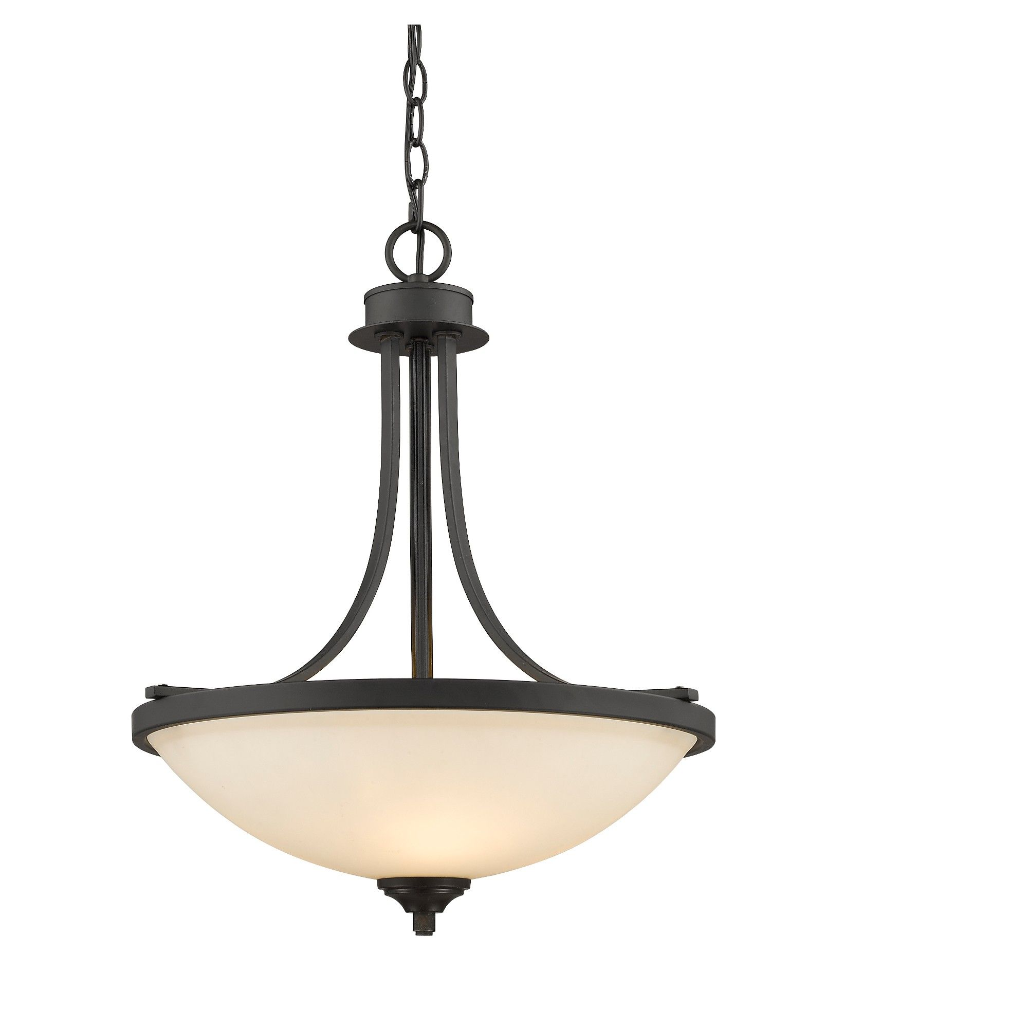 Pendant ceiling lights with matte opal glass set of zlite