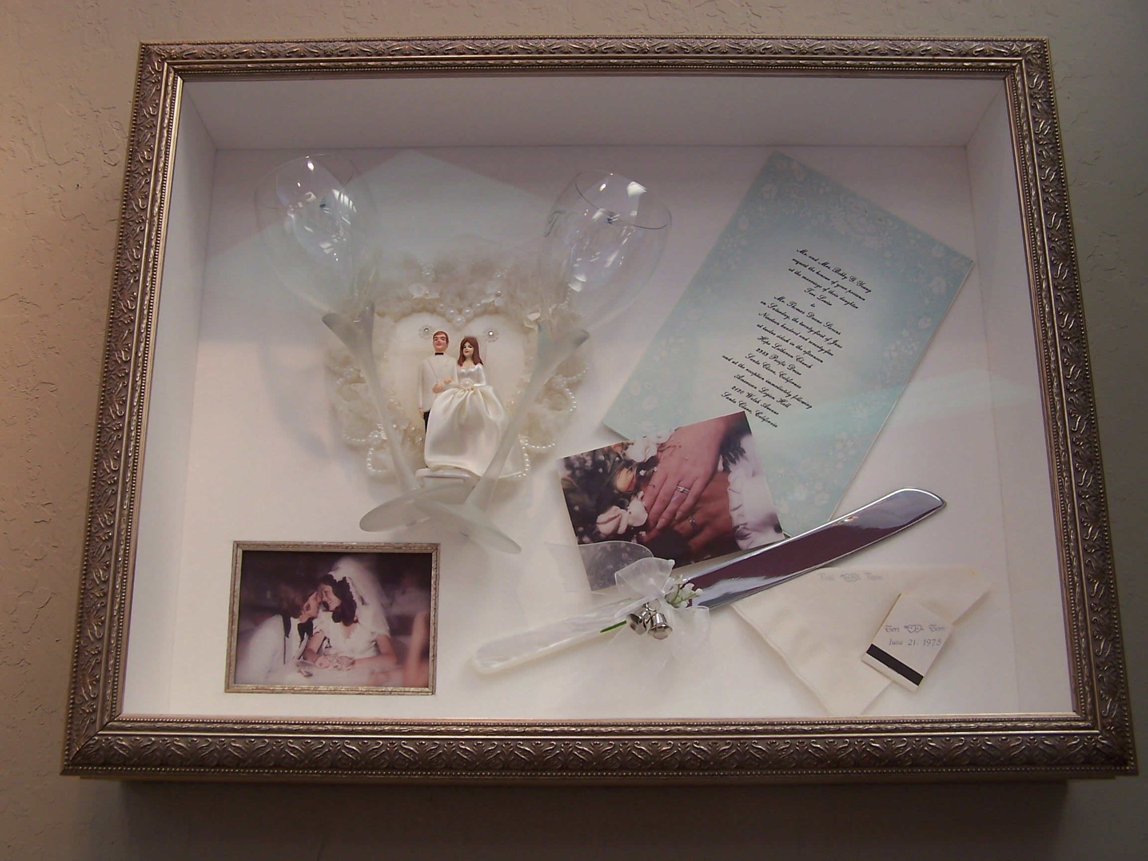 Wedding Shadow Box Was A Gift From My Framer Husband Tom On Our 30th Anniversary