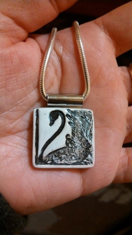 SPECIAL ORDER ONLY Swan Pendant or Necklace by mymotherswish, $15.00