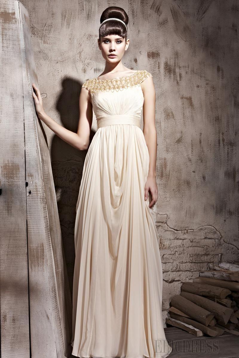 Charming empire scoop floorlength eveningprom dress dresses