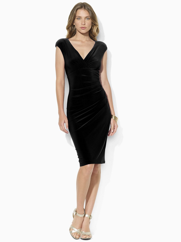 Jersey Empire-Waist Dress - Mid Length Dresses Dresses - Ralph Lauren UK
