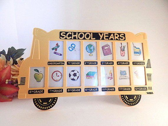 School Years Picture Frame Collage Frame Kindergarten Through 12th