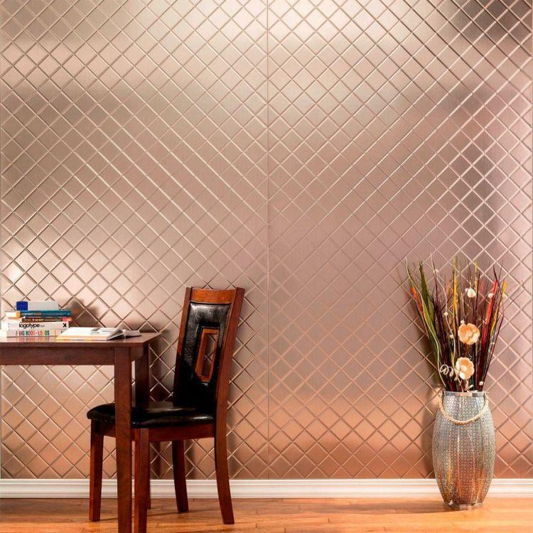 Wandverkleidung Wand Paneele Metall Messing Einrichtung Kariert Wandverkleidung Wandtafel Design Wandverkleidung Innen