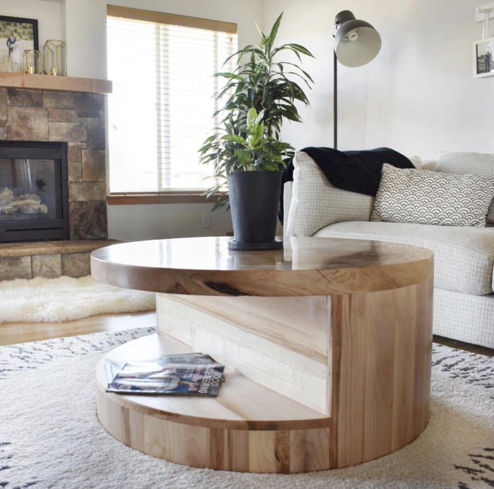 Round Coffee Table With Storage Wood Coffee Table Etsy Coffee Table Wood Coffee Table Reclaimed Wood Coffee Table [ 990 x 1000 Pixel ]