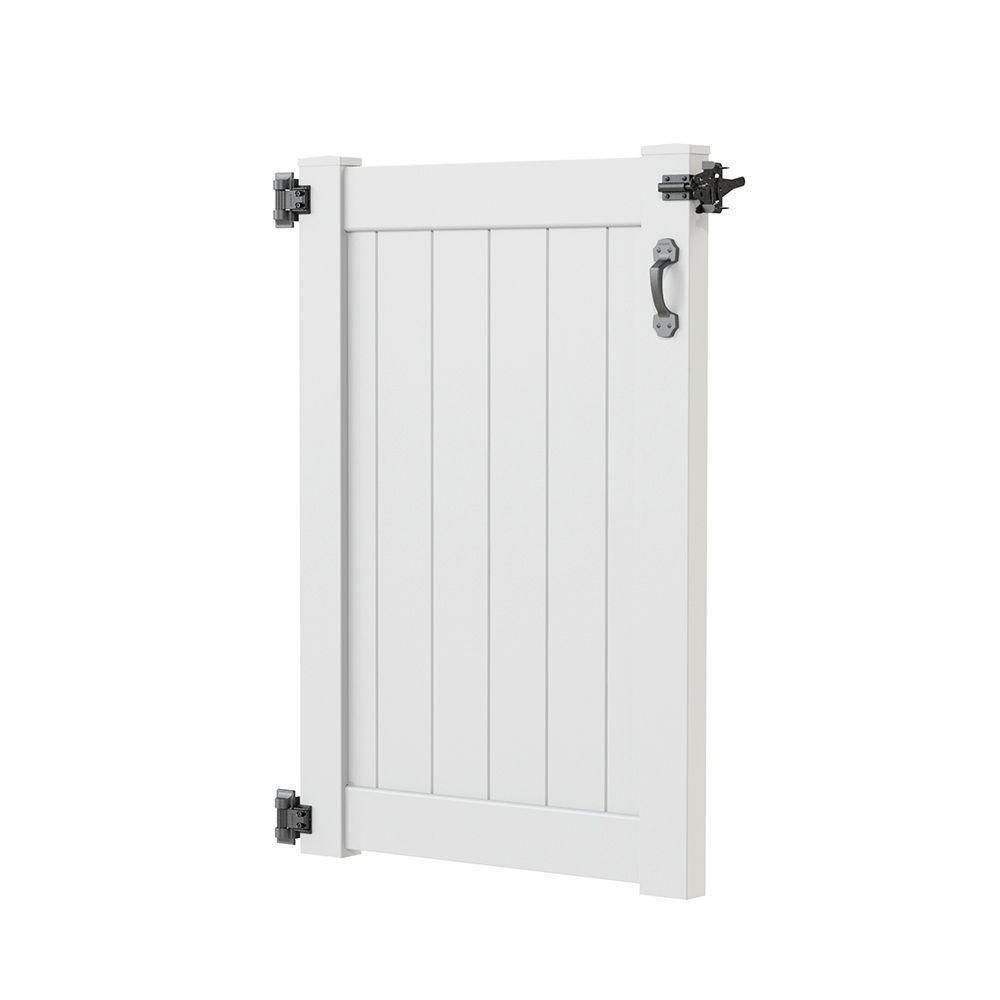 Liquid Sunshine 3 5 Ft W X 5 Ft H White Vinyl Outdoor Shower Stall Gate Kit Unassembled 73025338 The Home Depot Outdoor Shower Shower Stall Gate Kit