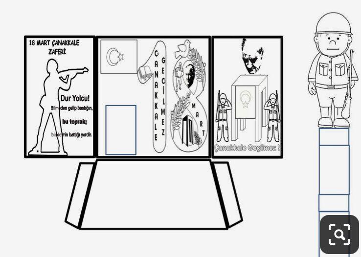 Uc Boyutlu Canakkale Askeri Cigdem Ogretmen Izinsiz Baska Sitelerde Yayinlamayiniz Sanat Boyama Sayfalari Sanat Etkinlikleri