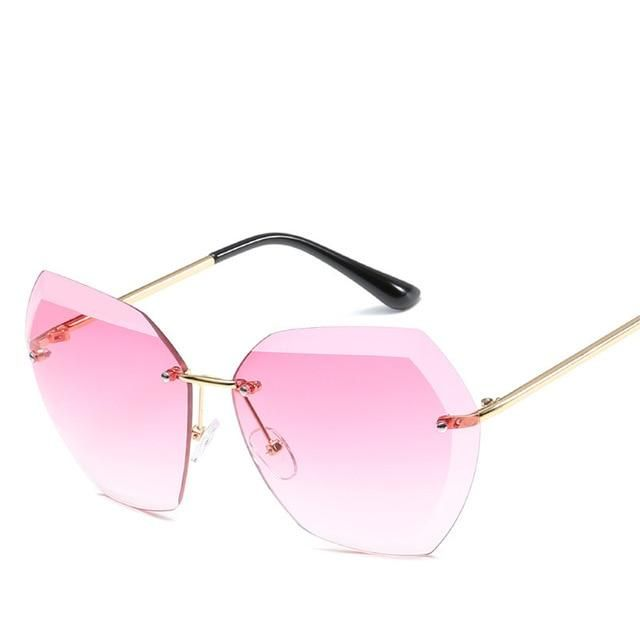 acca9b2f78f2d Rimless Vintage Sunglasses (Available in 8 Colors) - Valentina s Boutique