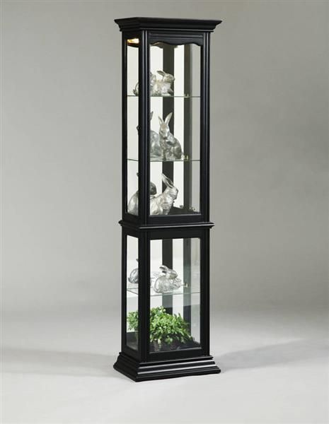Lovely Wood and Glass Curio Cabinet