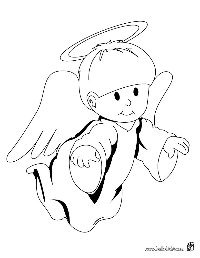 Image detail for -Cute Angel coloring page - CHRISTMAS ANGEL ...