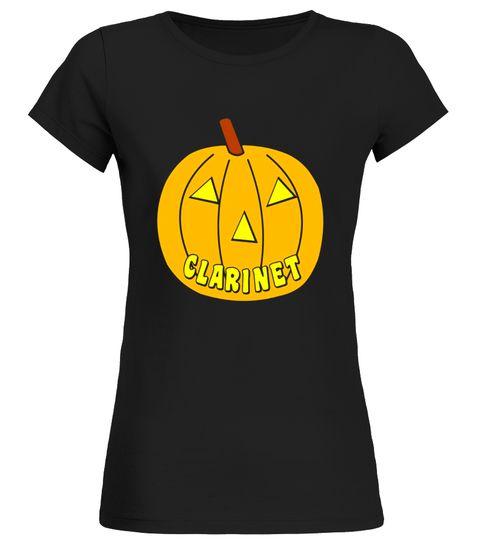 Clarinet Halloween Pumpkin Musical Instrument T-Shirt Clarinet T-shirt