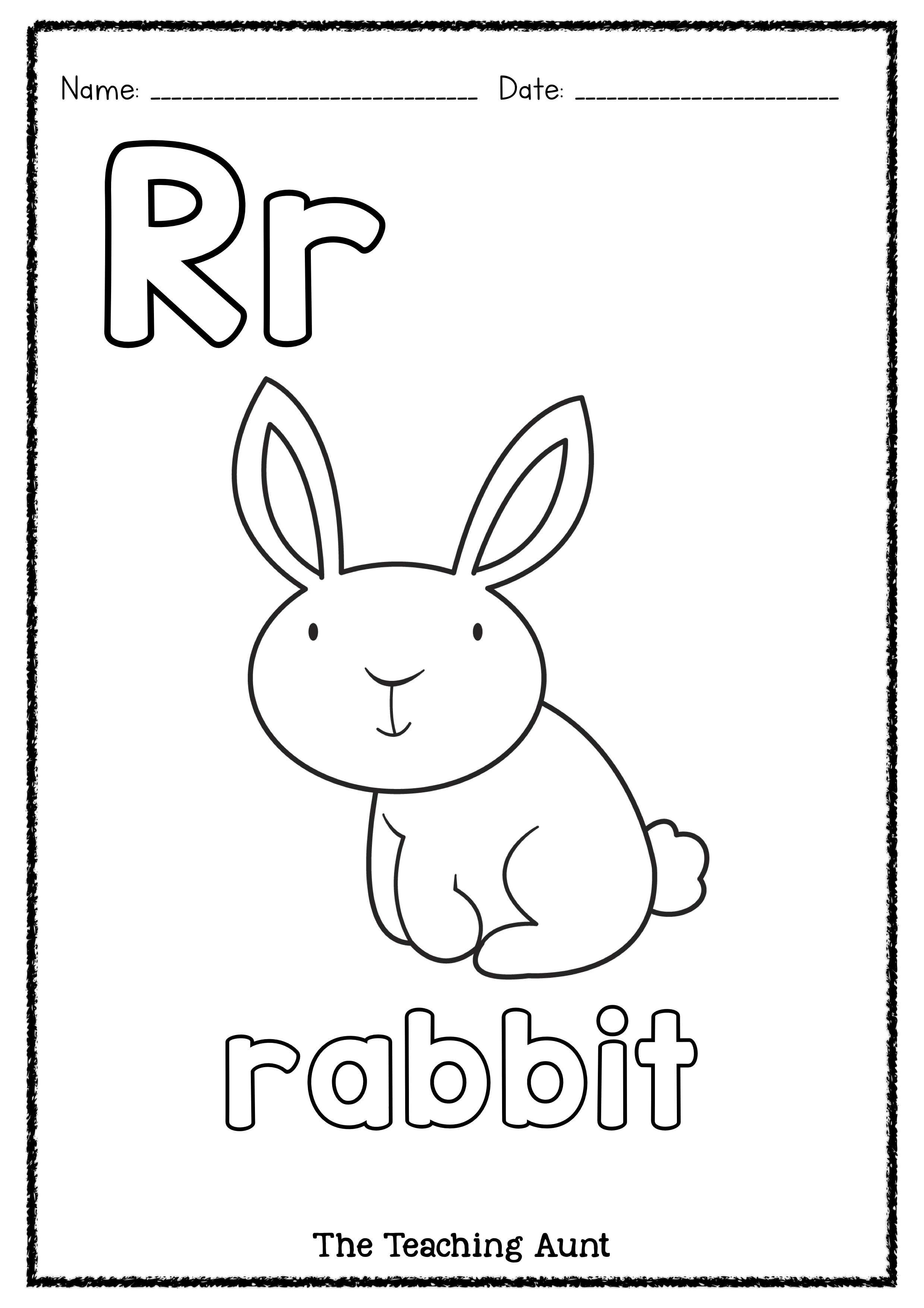 R Is For Rabbit Art And Craft