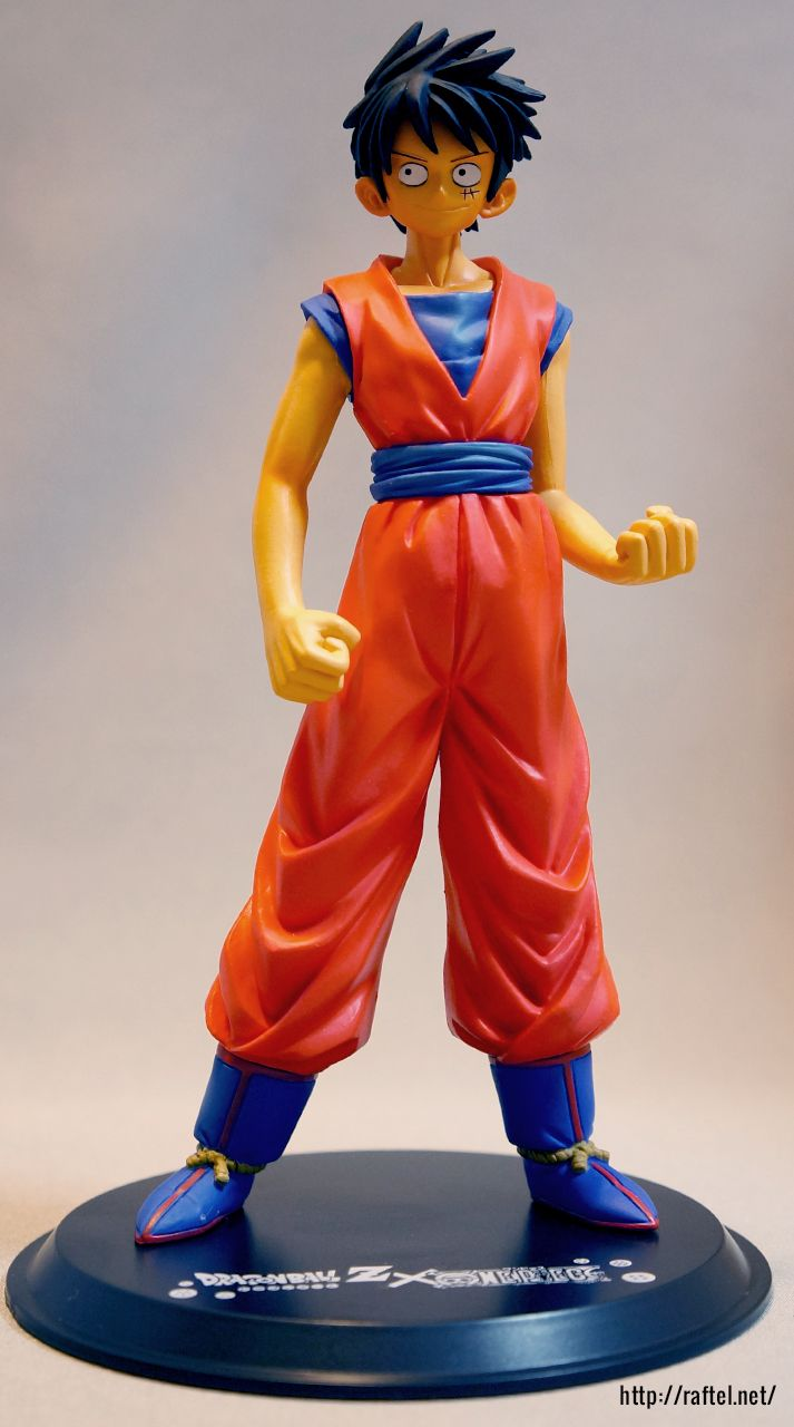 dragonball x one piece collaborative figures were sold in 2008 to celebrate the 40th year of shonen jump this figure is one piece one piece figure celebrities