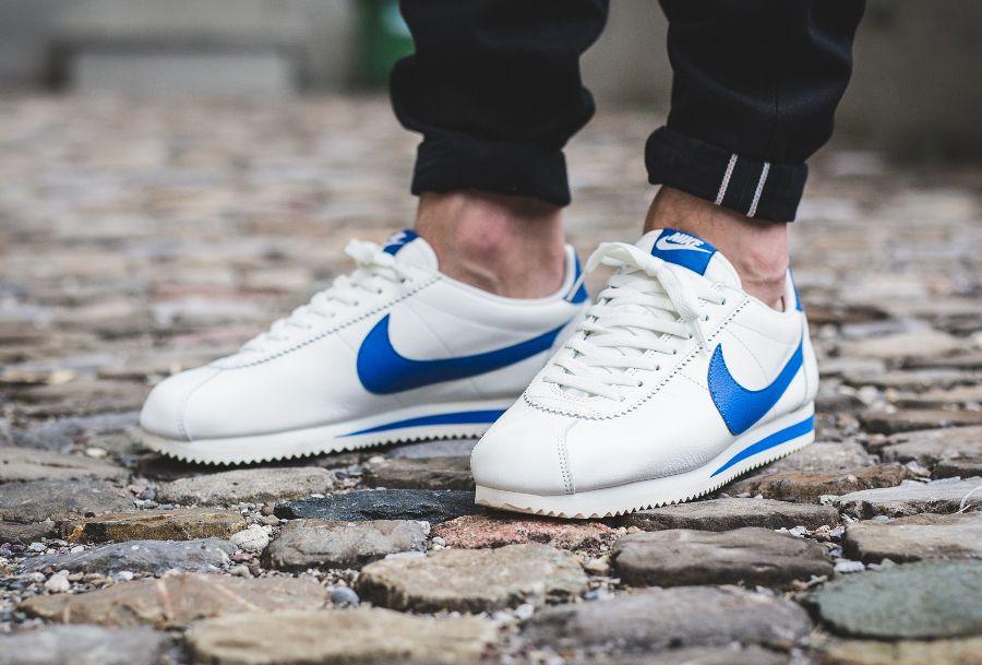 new arrival 45789 08689 Nike Cortez Leather SE  Blue Jay